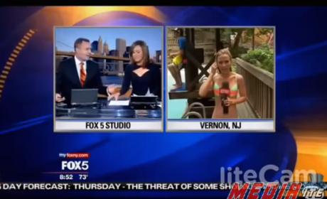 Fox Reporter Ogles Bikini-Clad Reporter, Acts Like a Buffoon
