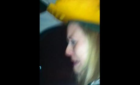 Packers Fan Cries After Loss to Giants