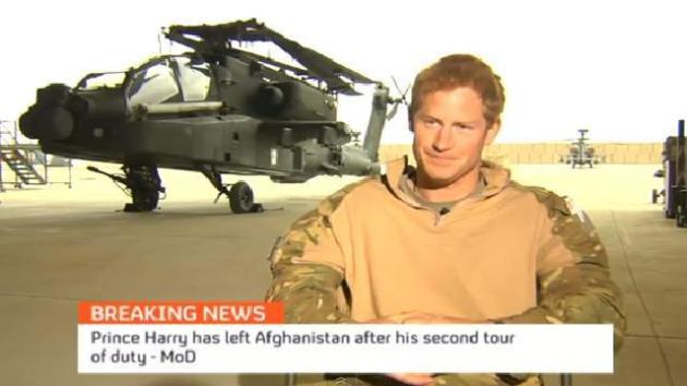 Harry Talks Life On The Afghan Front Line, Blames Nude