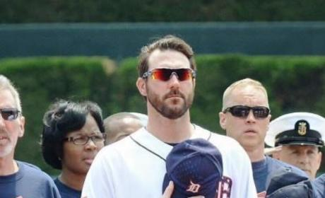 Justin Verlander National Anthem Photo