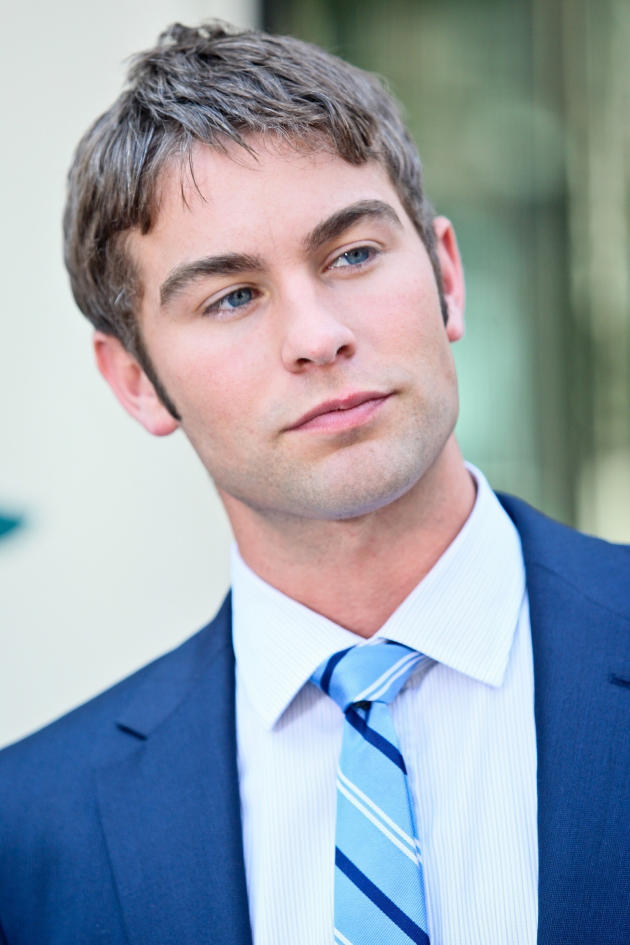 Chace Crawford on Set