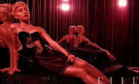 Miley Cyrus Elle Photo