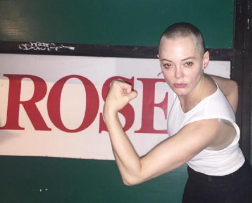 Rose McGowan Flexing