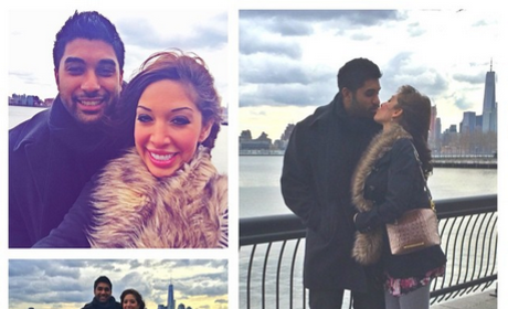 Farrah Abraham, Boyfriend Simon Kiss After Lip Injection Debacle Resolved