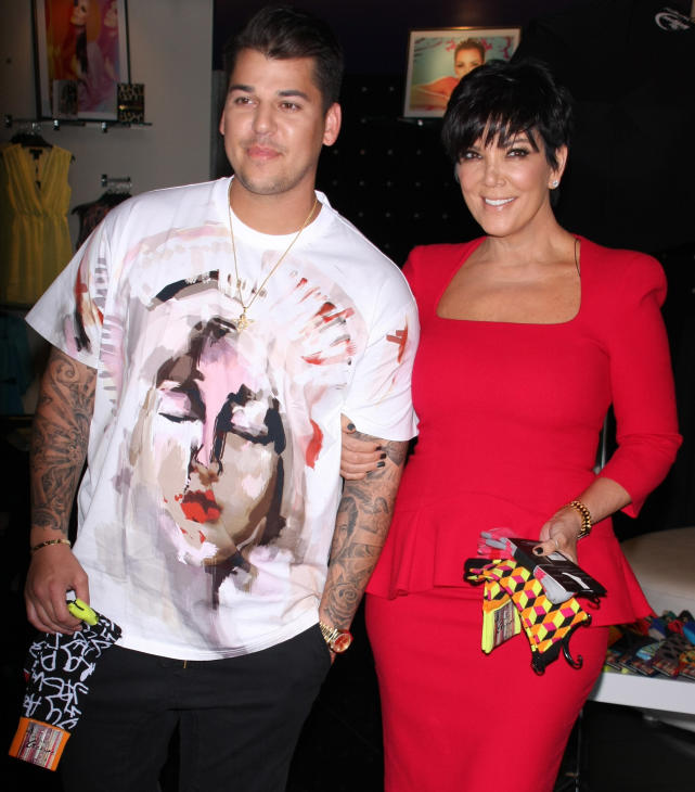 Rob Kardashian and Mom