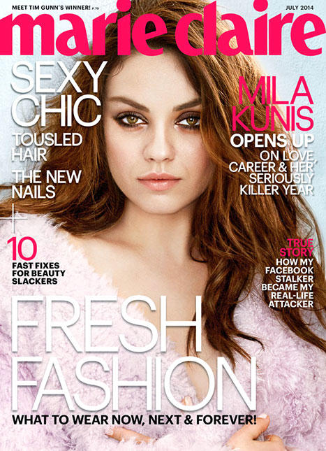Mila kunis on marie claire