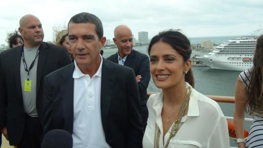 Antonio Banderas and Salma Hayek