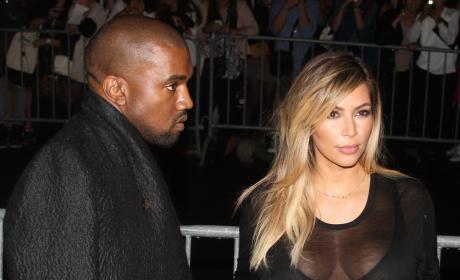 Kim Kardashian and Kanye West in France