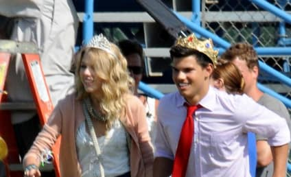 Spotted on Set: Taylor Lautner and Taylor Swift!