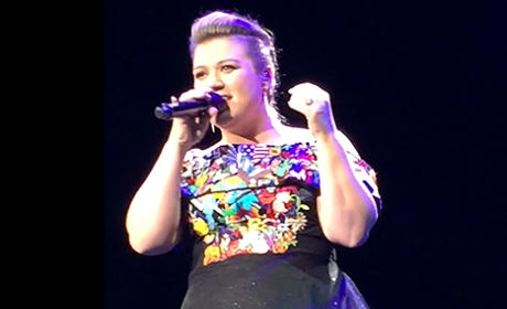 "Kelly Clarkson Outdoes Herself, Sings ""Bye, Bye, Bye"" in Concert"