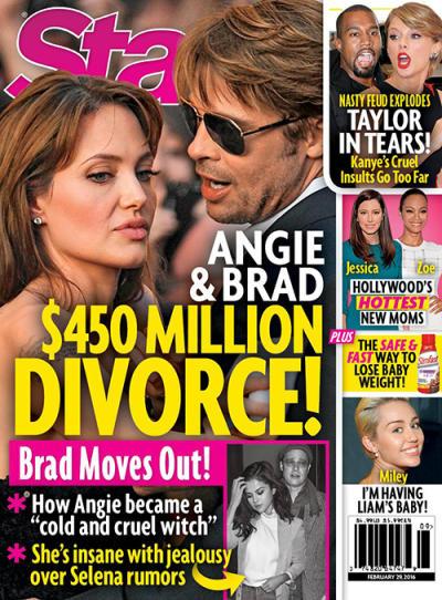Brad Pitt: Cheating on Angelina Jolie With Selena Gomez ...