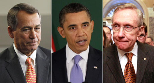 Obama, Reid and Boehner