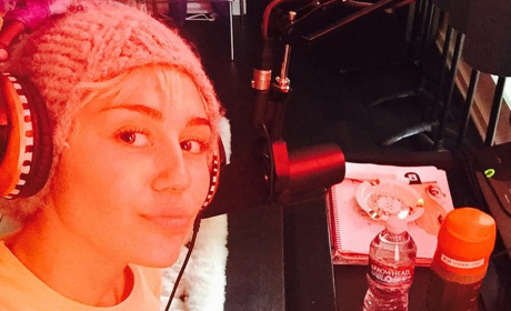 Miley Cyrus: Recording, Eating After Splitting from Patrick Schwarzenegger