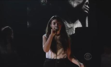Lorde Grammy Awards Performance 2014