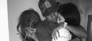 Khloe Hugs Tyga and Kylie