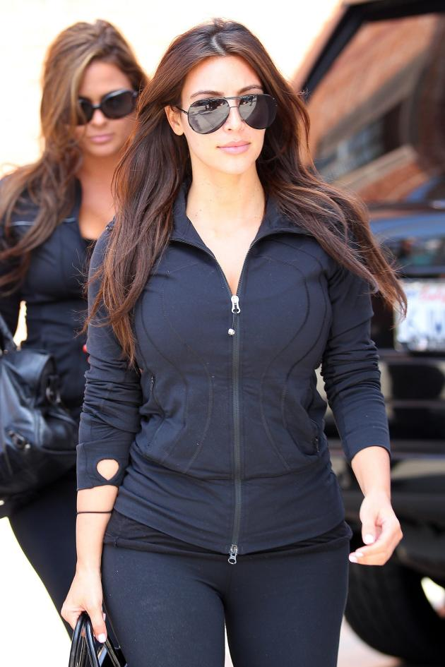 Kim Kardashian Goes for a Stroll
