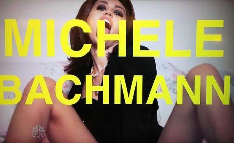Miley Cyrus as Michele Bachmann