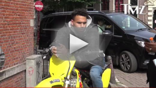 Chris brown super stoned stopped by cops in amsterdam