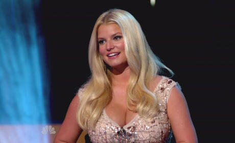 Jessica Simpson Rocks Out Hard at John Mayer Show