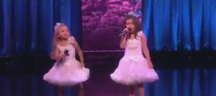 """Sophia Grace & Rosie Perform """"Starships"""" on Ellen"""
