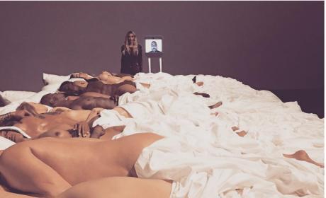 Kim Kardashian With Wax Bodies on Insta