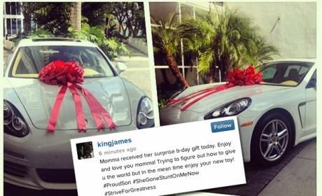 LeBron James' Mom Gets a Car