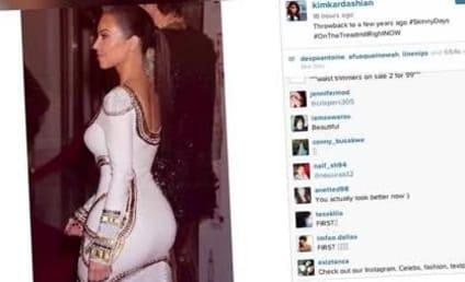 Kim Kardashian Throws It Back to #SkinnyDays, Sucks So Very Much