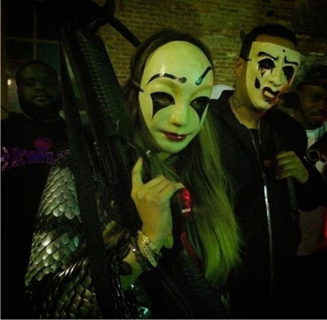 Khloe Kardashian and French Montana Gun Image