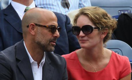 Stanley Tucci and Felicity Blunt: Engaged!