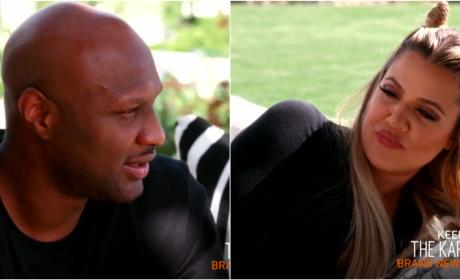 "Lamar Odom Admits ""Marriage Ain't Easy,"" Khloe Kardashian Is Amused"