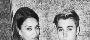 Shanina Shaik and Justin Bieber Photo