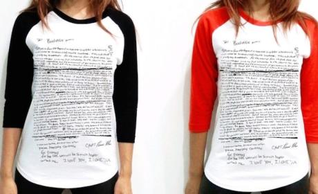 Kurt Cobain Suicide Note Shirts: Actually a Thing People Are Wearing