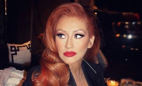 Christina Aguilera Red Hair
