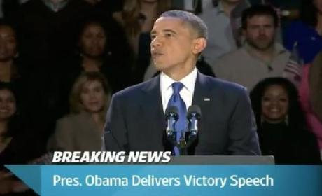 Obama Victory Speech: President Calls For National Unity, Path Forward