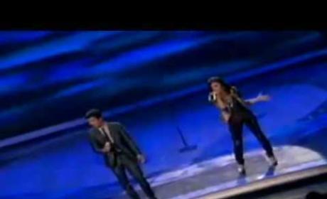 Joe Jonas and Demi Lovato on American Idol