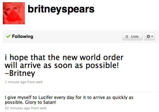 Britney Devil Worship