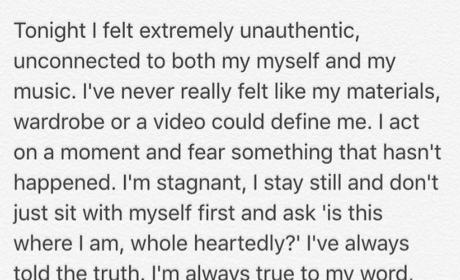 Selena Gomez Instagram Message to Fans