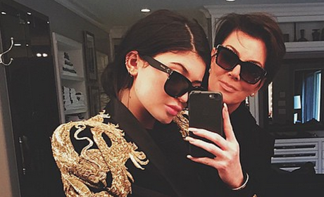 Kylie and Kris Selfie