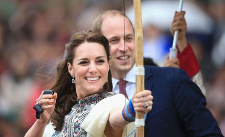 Kate Middleton Fires an Arrow in Bhutan