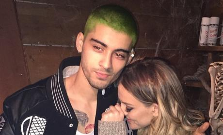 Zayn Malik with Green Hair