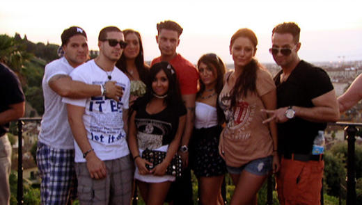 Jersey Shore Cast Pic in Italy