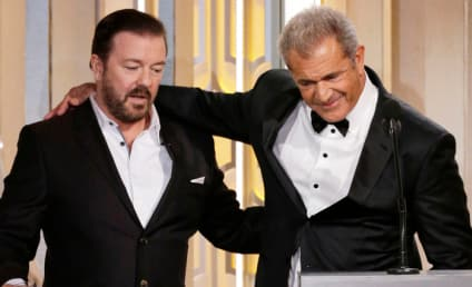 Ricky Gervais Said WHAT to Mel Gibson at the Golden Globes?!?