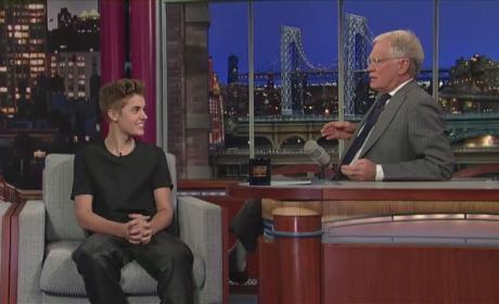 Justin Bieber: Mocked by David Letterman!