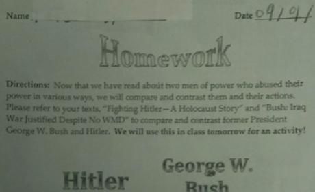 Hitler-George W. Bush Venn Diagram