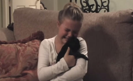 Little Girl Gifted with Puppy, Breaks Down in Happy Tears