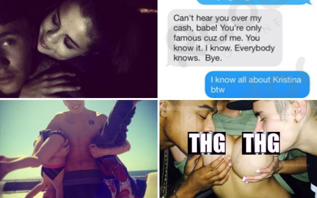Justin bieber and selena gomez on instagram
