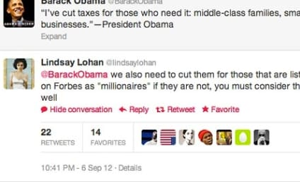 Lindsay Lohan to Barack Obama: Millionaires Need Tax Cuts Too!