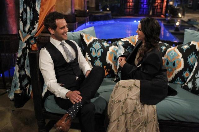 Andi Dorfman and Nick Viall on The Bachelorette