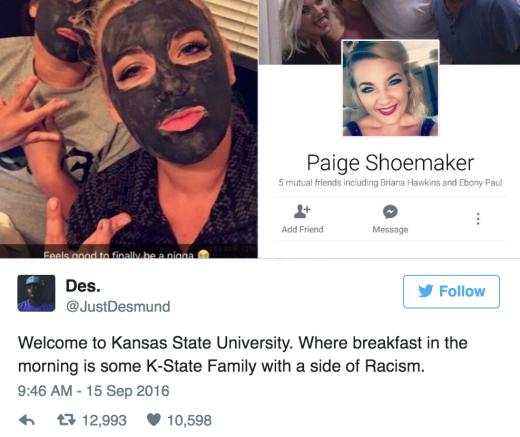 Kansas State University distances itself from racist post