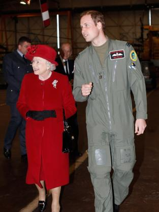 Prince William and Queen Elizabeth II